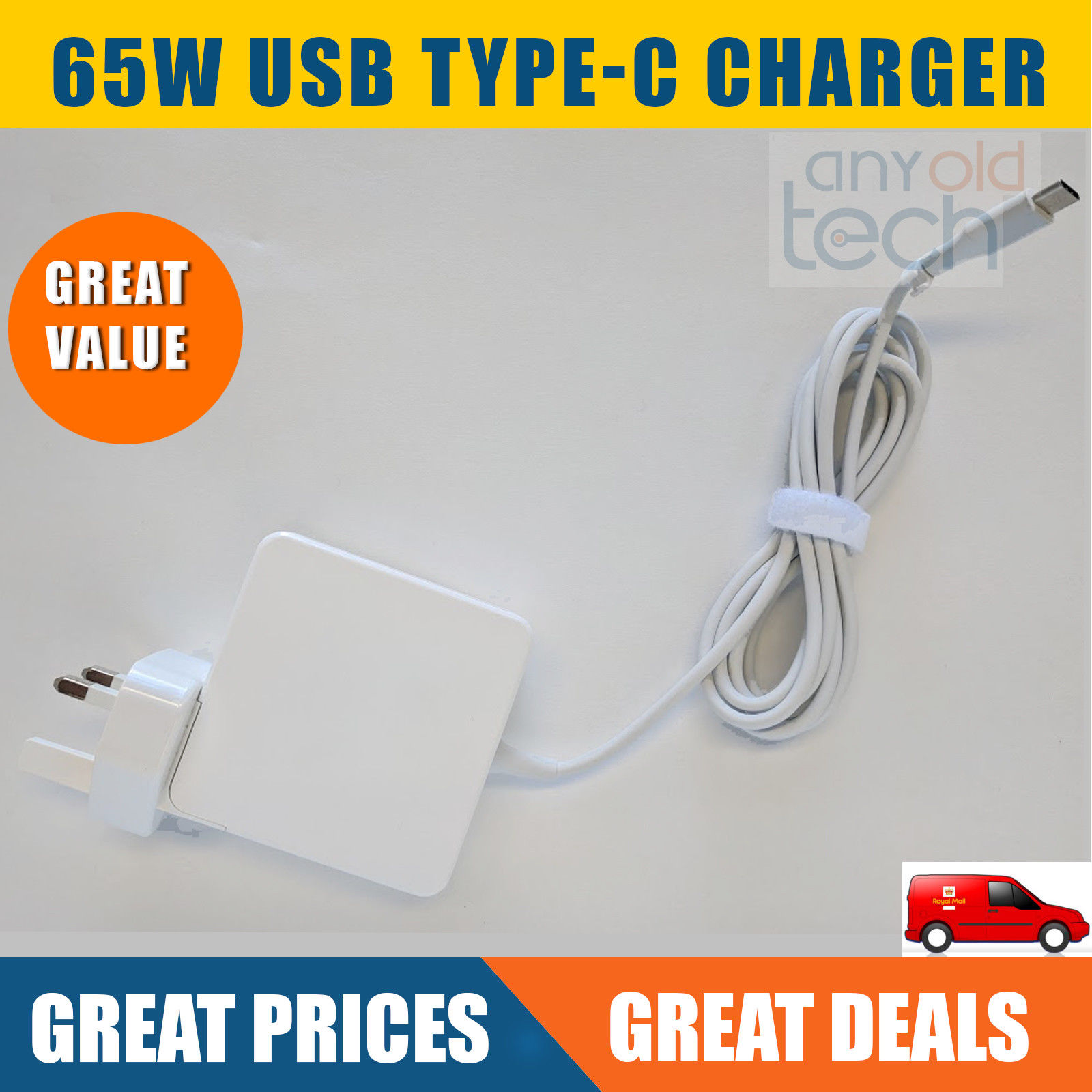 65W USB Type-c Adapter for Macbook Lenovo Laptops charger,